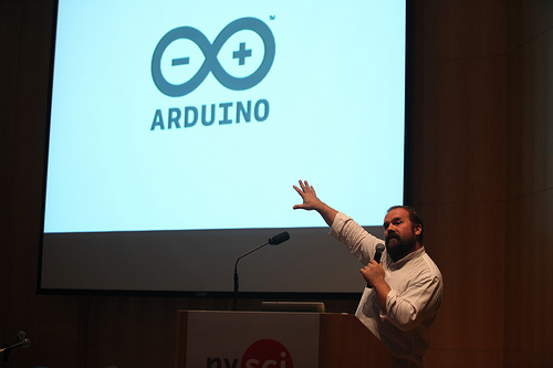 Massimo and Arduino Logo at Maker Faire 2010 in NYC